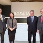 Álvaro Roquette, socio de BROSETA; Rosa Vidal, socia directora; Pablo Bieger, socio; y Manuel Broseta, presidente de la Firma.